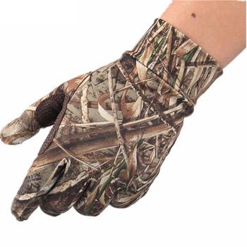 Nowa wiosna lato odkryty kamuflaż bioniczny rękawice polowanie drzewo stroiki pełne rękawiczki antypoślizgowe elastyczne rękawice wędkarskie z ekranem dotykowym tanie i dobre opinie NANFOO Pasuje prawda na wymiar weź swój normalny rozmiar Polyester SF-MXX5 Hunting Camo Gloves RT Camo HD Camo RTX Camo Green Leaves