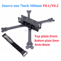Source one 7 7inch 300 300mm V0.1 / V0.2 with 4mm arm X frame FPV Racing Drone Quadcopter Frame