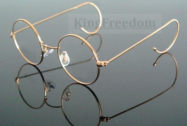 97a486cb09579a Leesbril Vintage Ronde 42 44 46 48 50mm Gold Volledige Velg + 100 + 125 +