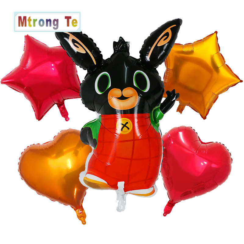 10pcs 18inch Bing Bunny Foil Balloon Cartoon Rabbit Animal Balloons Toys For Kids Children Birthday Party Decorations Globos Easy To Use Drone Bags Accessories & Parts