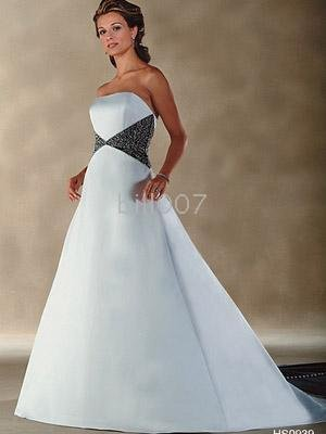 2009 Color Accented Bridal Gowns Style Wedding Dresses For Jobridal Hs0939 Ball Gown Strapless