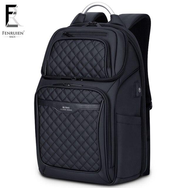 FRN Men Backpack Multifunction USB 17 Inch Laptop Mochila Fashion Business Large Capacity Waterproof Travel Backpack For Men