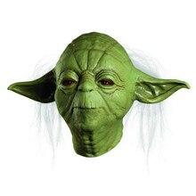Partido Hallween Máscara Star Wars Yoda JedtI Deluxe Overhead Costume Movie TV Máscara Máscara de Látex de Adultos Un Tamaño Al Por Mayor