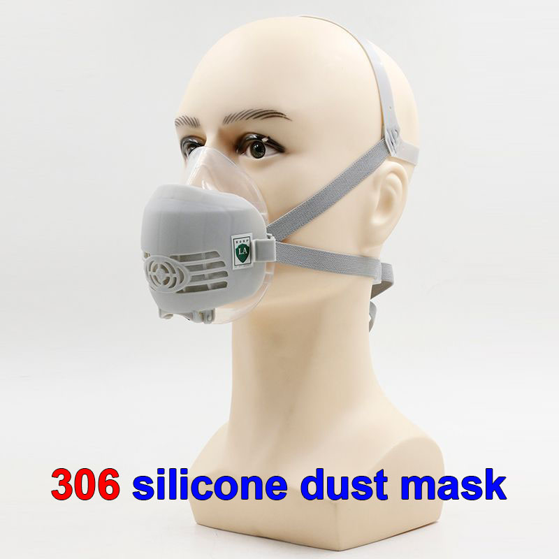 306 respirator dust mask High quality PM2.5 dust smoke respirator mask silicone + activated carbon filter pulp dust mask