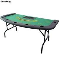 Черный Джек стол казино складной стол техасский холдем покер Крытый настольная игра чип аксессуар заводская цена