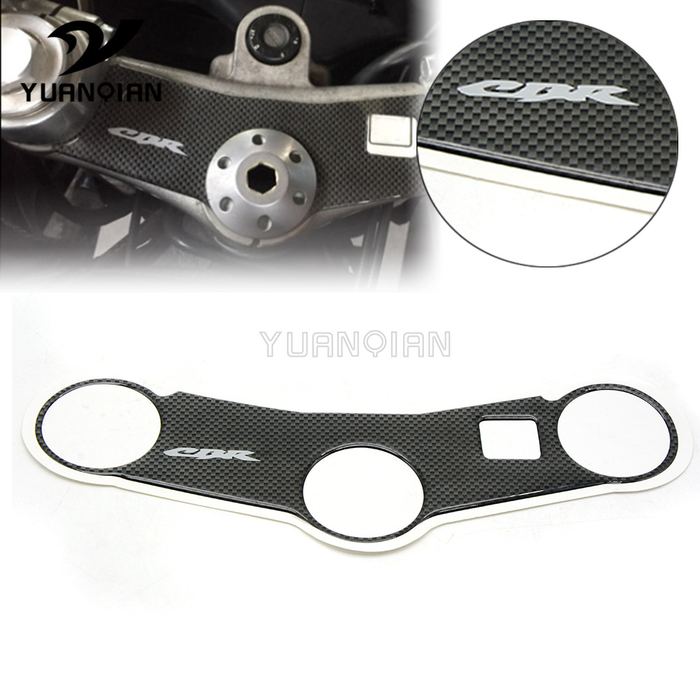 Motorcycle Carbon Fiber Oil Tank Protection Plate Pad Steering Bracket Cover Decal Sticker For Honda CBR600 2005 2006 CBR 600