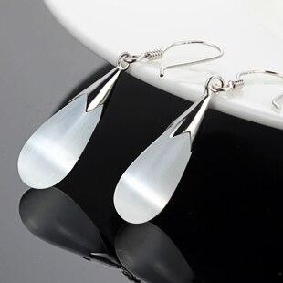 New 2016 hot sell 925 pure silver - eye earrings female fashion long elegant design silver jewelry earrings