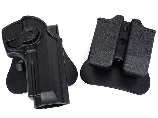 DEFENSE Полимер Задържане Roto Кобур и двойна калъфка за списания Fits 92/96 / M9 Аксесоари за ловно оръжие