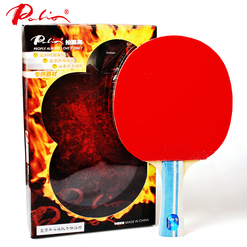 Palio 5 star Legend Table Tennis Racket HADUO rubber Ping Pong racket pure wood carbon Blade