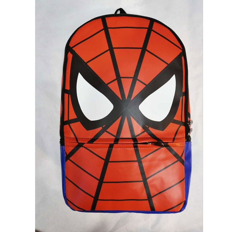 ФОТО Fashion Leather Backpack Anime Spider-man School Bags Super Hero The Avengers Deadpool Batman Spider Men Travel mochila escolar