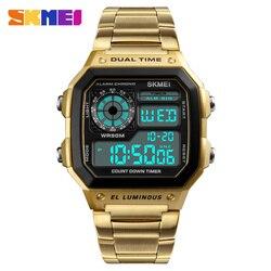 SKMEI Men Sport Watch Digital Fashion Watches 12/24 Hour 2 Time Chrono Countdown Waterproof Wristwatches Top Brand Luxury 1335