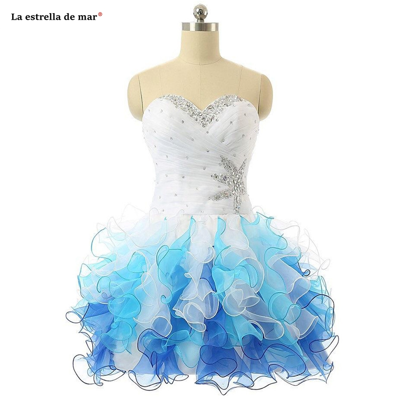 Colorful Short Prom   Dresses   New Sweetheart Beaded Ruched Tulle Homecoming Gowns Lace Up Ruffles Mini Sexy   Cocktail     Dress