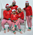 Familia A Juego de la Navidad ropa de Dormir ropa de dormir Pijamas Set Mujeres Niños Copo de Nieve desgaste