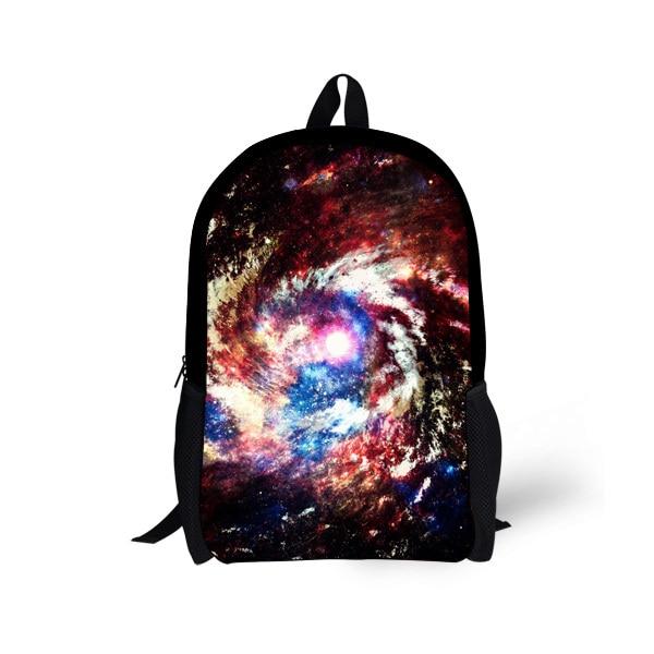 Fashion 16 inch Children Backpack Galaxy Space Travel Satchel Bag Backpack Kids School Book Bag Mens Campus Rucksack