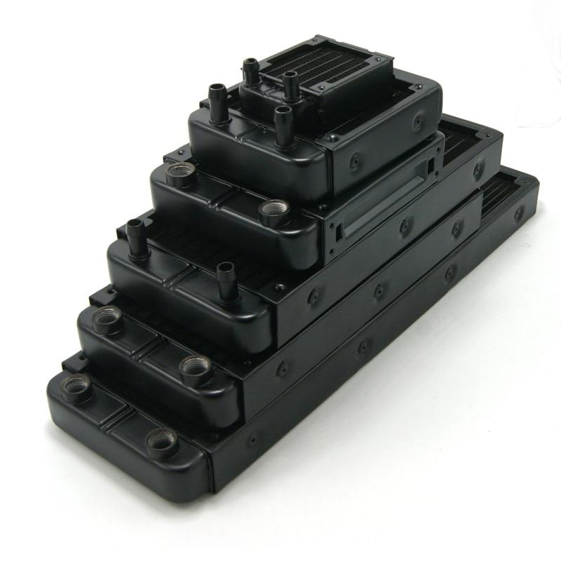 Black / White Full Aluminum Radiator 60mm 80mm 90mm120mm 240mm Water Cooling Radiator Suitable For Computer CPU Heatsink