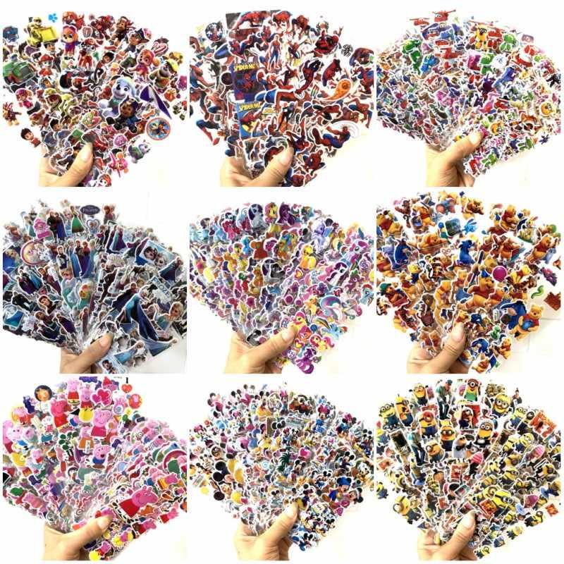 ใหม่ 3D การ์ตูนสติกเกอร์กันน้ำ Bubble PVC DIY สติกเกอร์ Spiderman Mickey สัตว์เด็กเด็กของขวัญเด็ก 12/6 แผ่น/ lot