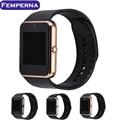 [Auténtica] venta caliente tarjeta sim tf bluetooth smart watch gt08 reloj digital del deporte de hombre y mujeres smartwatch para apple android