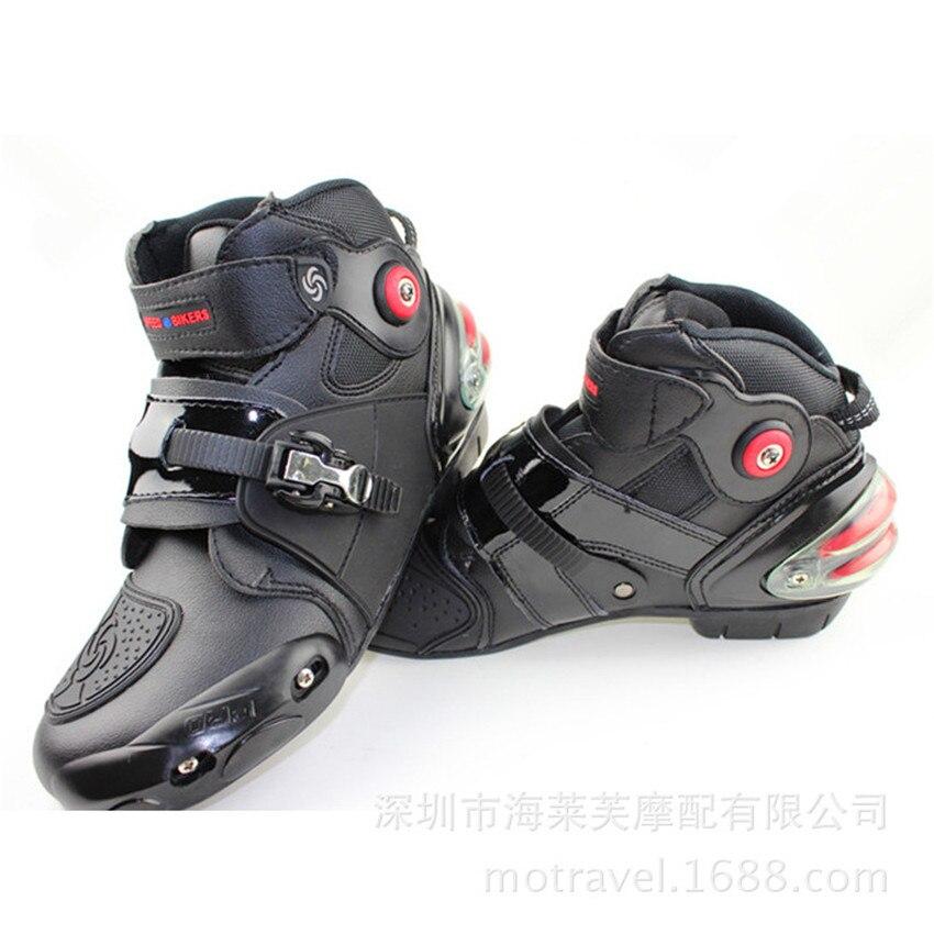 Bottes de moto en cuir résistance aux chutes bottes pour Moto et Scooter imperméables