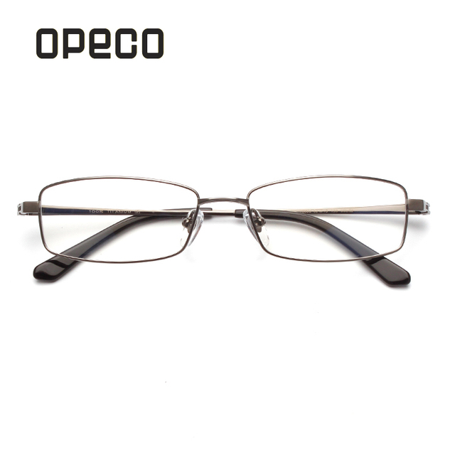 666aeaa13d4a Opeco Brands 100% Pure Titanium Man Eyeglasses Frame RX able Recipe Men  Glasses Full Rim Light Weight Myopia Optical Eyewear8850