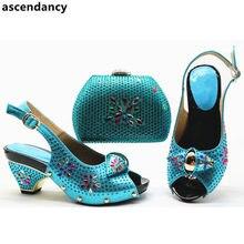 27fb67a2295df Yeni Nijeryalı Parti Ayakkabı ve Çanta Setleri Satış Kadın Eşleşen Ayakkabı  ve Çanta Seti Afrika Eşleştirme