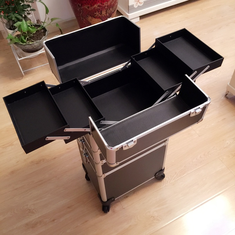 Compare Prices On Case Aluminium Cosmetic Online ShoppingBuy Low - Aluminum trolley case pro rolling makeup cosmetic organizer