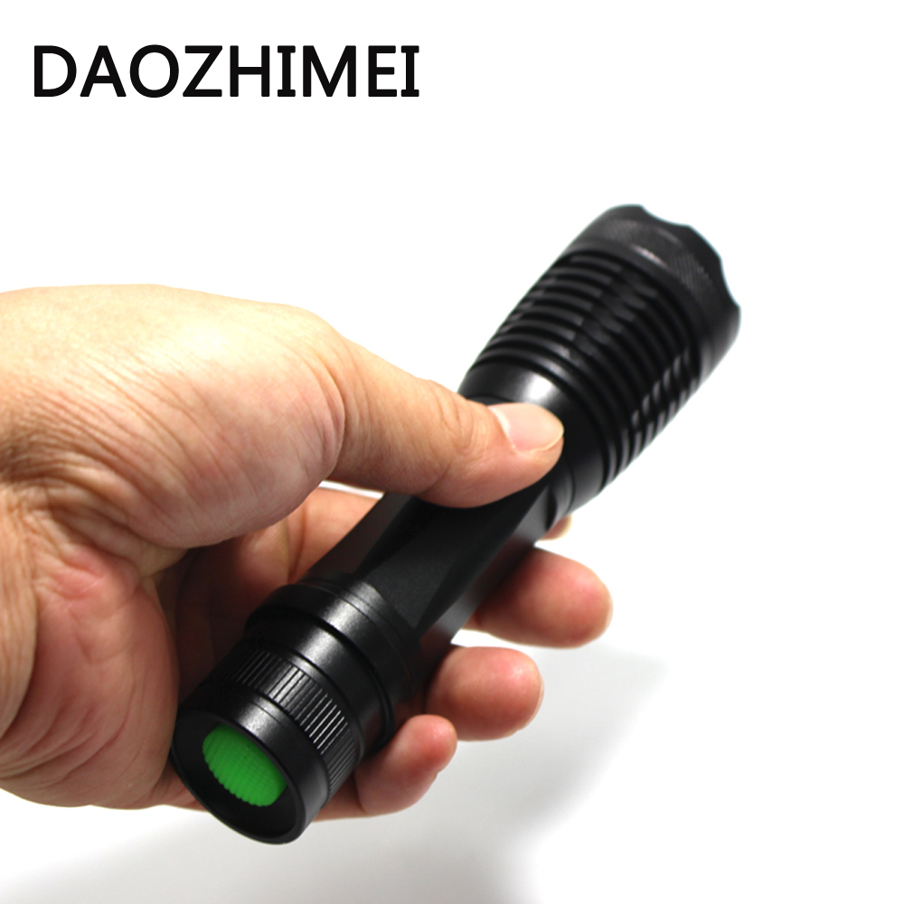 LED Flashlight 5000 lumen XM-T6 led tactical flashlight Aluminum Torches Zoomable Adjustable torch