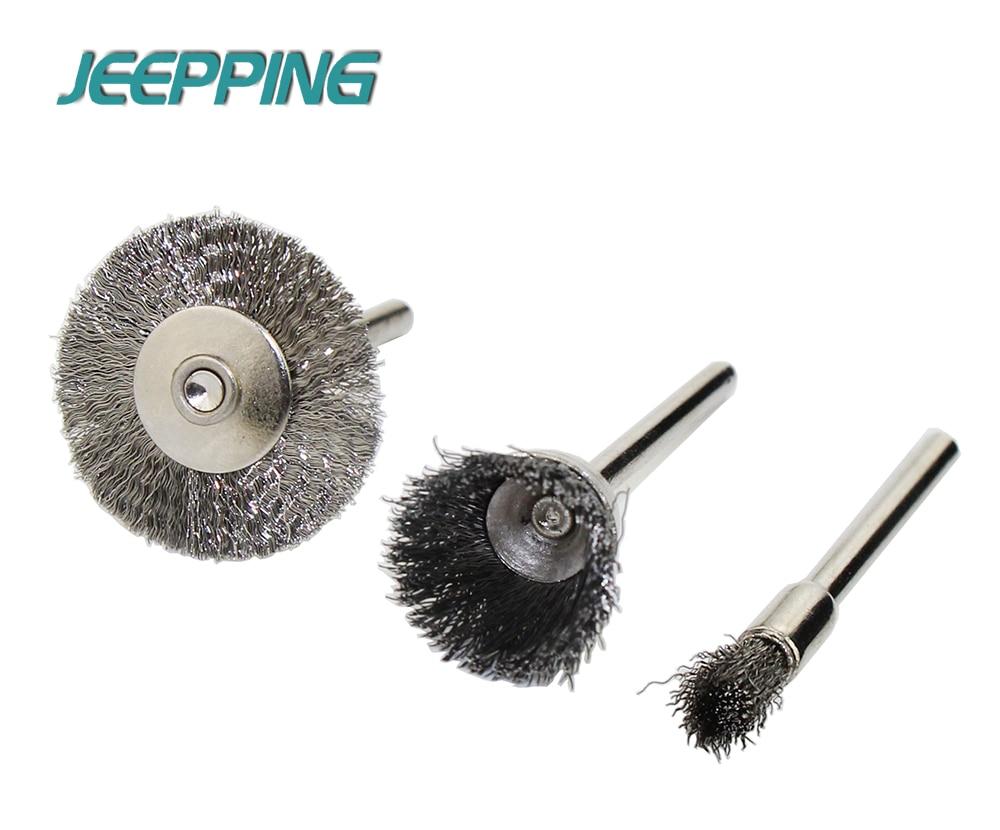 JEEPPING 20pcs Steel Wheel dremel wire Brush Set dremel tools ...
