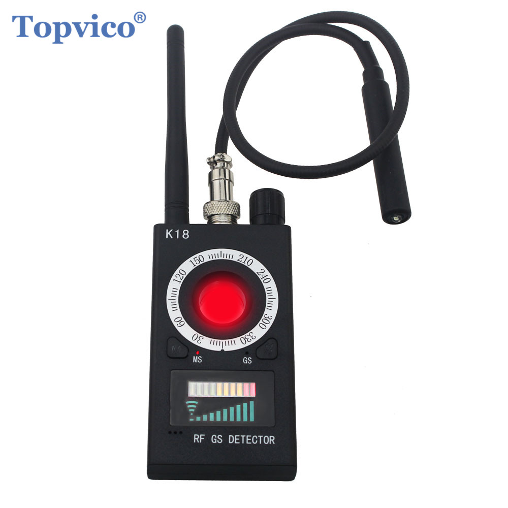 Topvico Full Range Pro Anti - Spy Bug Detector Wireless Camera Lens Hidden Signal GPS Tracker RF GSM Devices Magnetic Finder