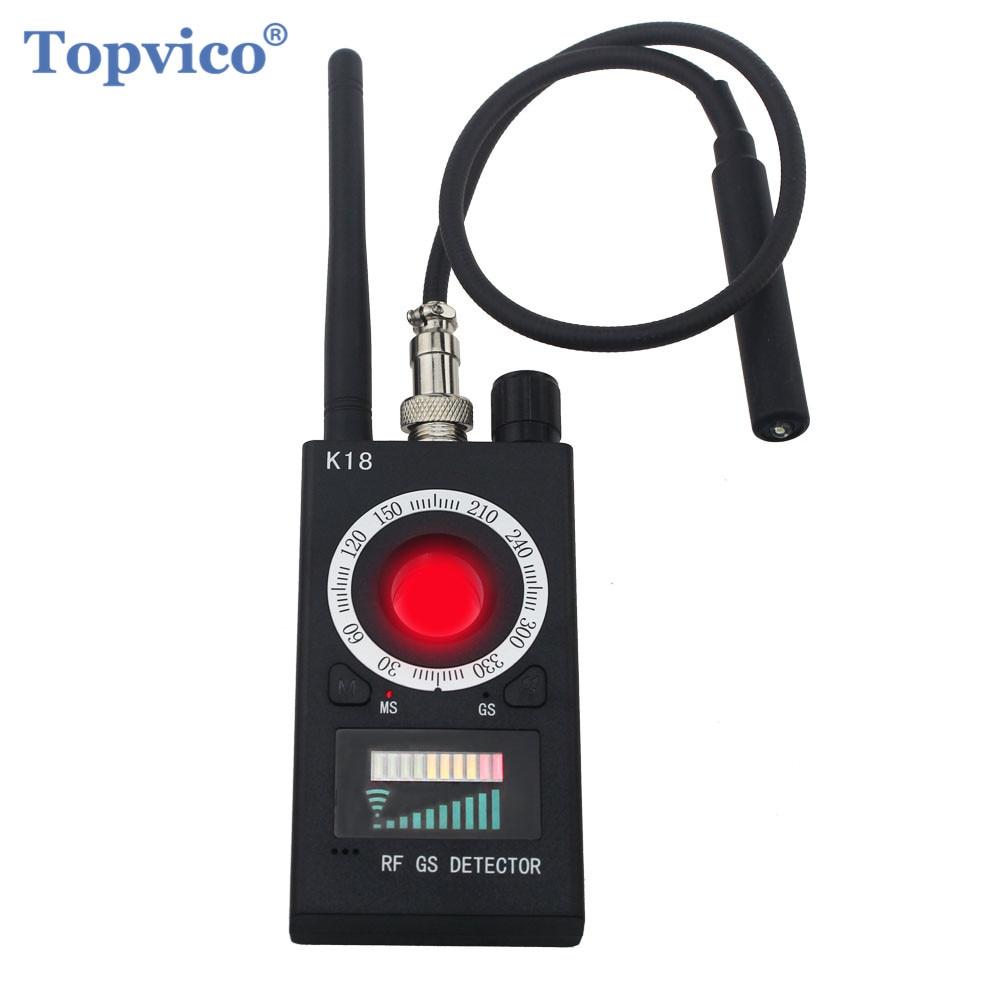 Topvico полный диапазон Профессиональный антишпионский детектор ошибок беспроводная камера Объектив Скрытый сигнал GPS трекер RF GSM устройства ...