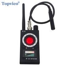 Topvico 전체 범위 프로 안티 스파이 버그 탐지기 무선 카메라 렌즈 숨겨진 신호 GPS 트래커 RF GSM 장치 마그네틱 파인더