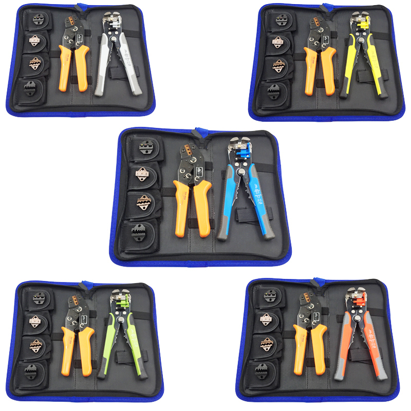 Hand Multitool Kit Cable Stripper Crimping Plier Set Peeling Crimp Tools For Insulated And Non-insulated Terminals Alicates
