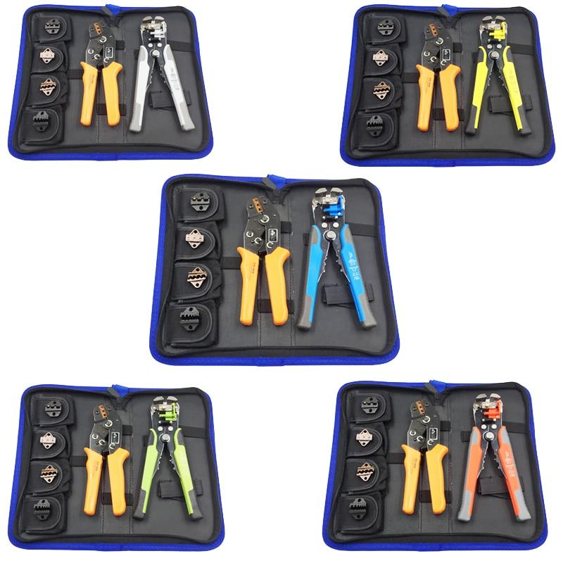 Kit multi-outils à main dénudeur de câble ensemble de pinces à sertir outils à sertir pour bornes isolées et non isolées alicates