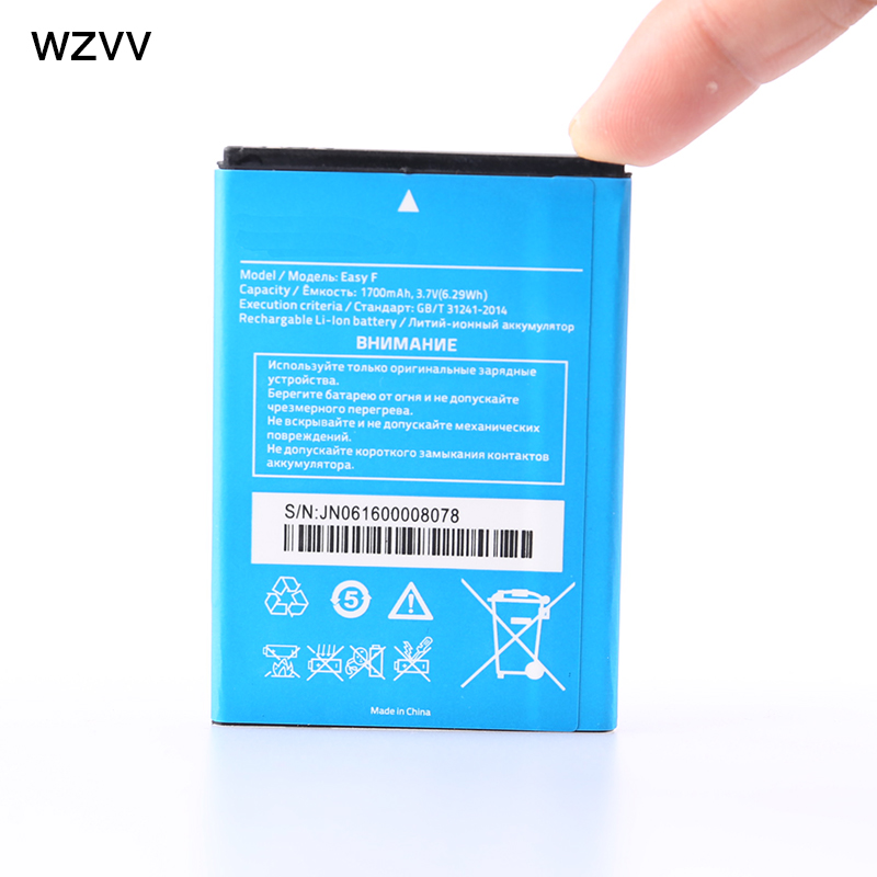 wzvv Original Rechargeable battery 1700mAh EASY F battery for Highscreen EASY F mobile phone + Tracking Code