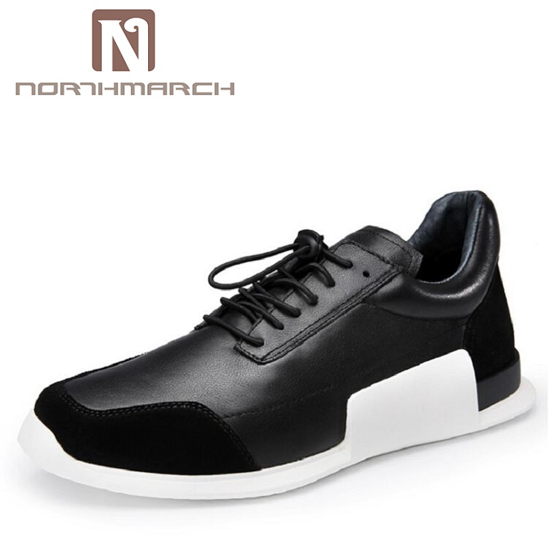 NORTHMARCH High Quality Men Sneakers New Classic Orange Shoes Black Lace UP Casual Shoes Men Flats High Top Men Shoes