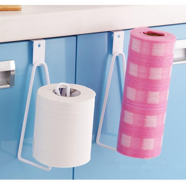 Creative Toilet Roll Paper Holder Door Back Hanging Towel Roll Tissue Rack Kitchen Cupboard Paper Storage & Creative Toilet Roll Paper Holder Door Back Hanging Towel Roll ...