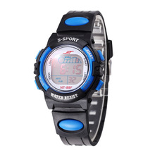 Children Watch Sports Electronic Digital LED Watch Boy Watch LED Digital Wrist Watch Luminous Alarm Wristwatch horloges mannen cheap 20cm Buckle 11mm ROUND 35mm LED display Shock Resistant Water Resistant Back Light Fashion Casual 3Bar WoMaGe Silicone