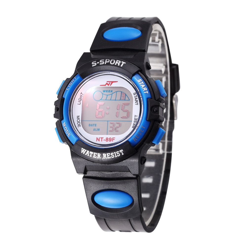 Children Watch Sports Electronic Digital LED Watch Boy Watch LED Digital Wrist Watch Luminous Alarm Wristwatch Horloges Mannen