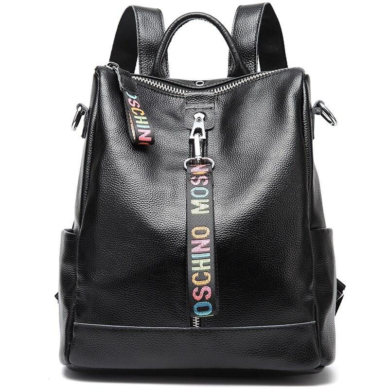 Women 100 Genuine Leather Backpack High Quality Youth Backpacks for Teenage Girls Female School Shoulder Bag