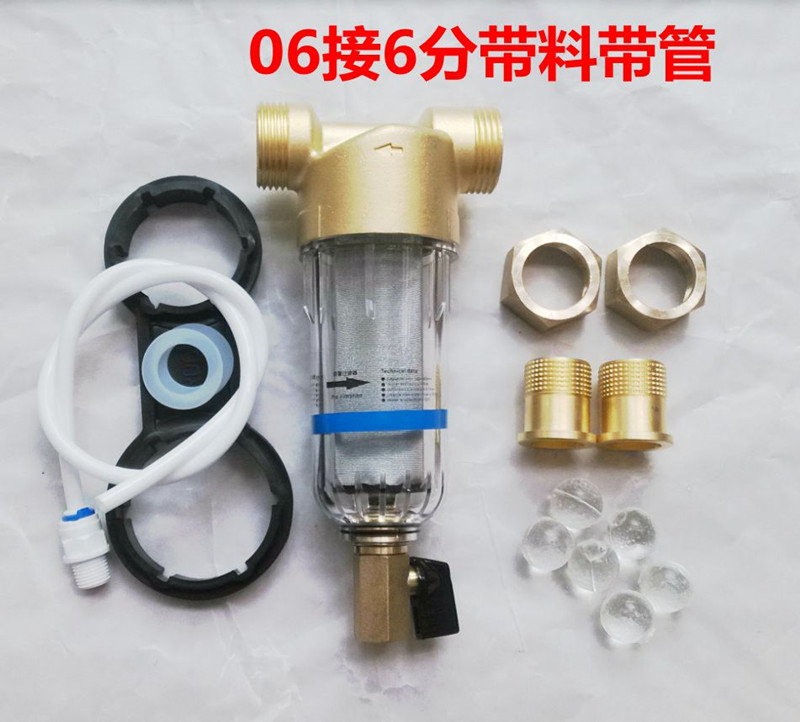 Free shipping/reverse flush brass pre water filter 1/2 with wrench