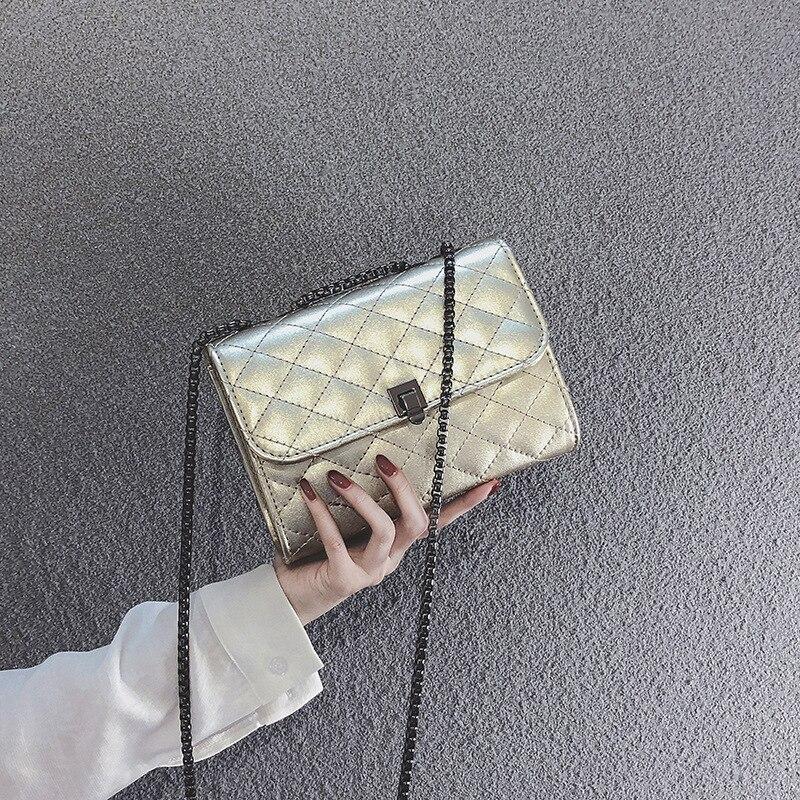 Rombico Modo Donne argento Versione colore Sacchetto Il Spalla as757 Bag Del Rosa Delle 2019 Nuovo Coreana Nero Di Messenger Borsa M Piccola Piazza oro gxAw0qWYIS