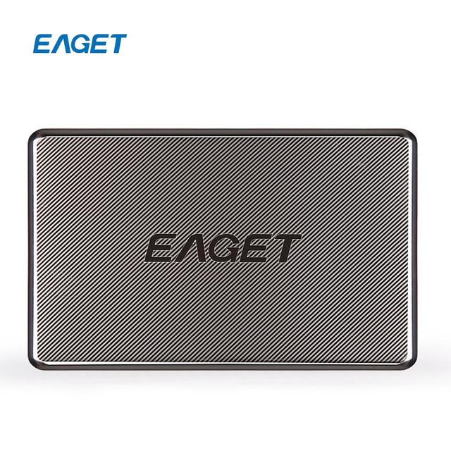 EAGET G50 1 TB USB 3.0 High-Speed Original Ultra-fino Cheio de aço Inoxidável Criptografia À Prova de Choque Disco Rígido Externo Unidades de disco Discos Rígidos