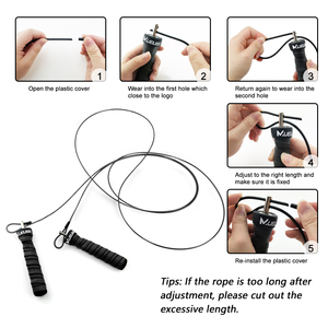 Crossfit Скакалка скорость скакалки и взвешенные скакалки с дополнительной скоростью кабельный шар подшипники противоскользящая ручка для двойных скакалки