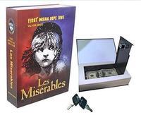 Secret Hidden Book Dictionary Cash Money Jewelry Security Box Safe Key Lock Gift