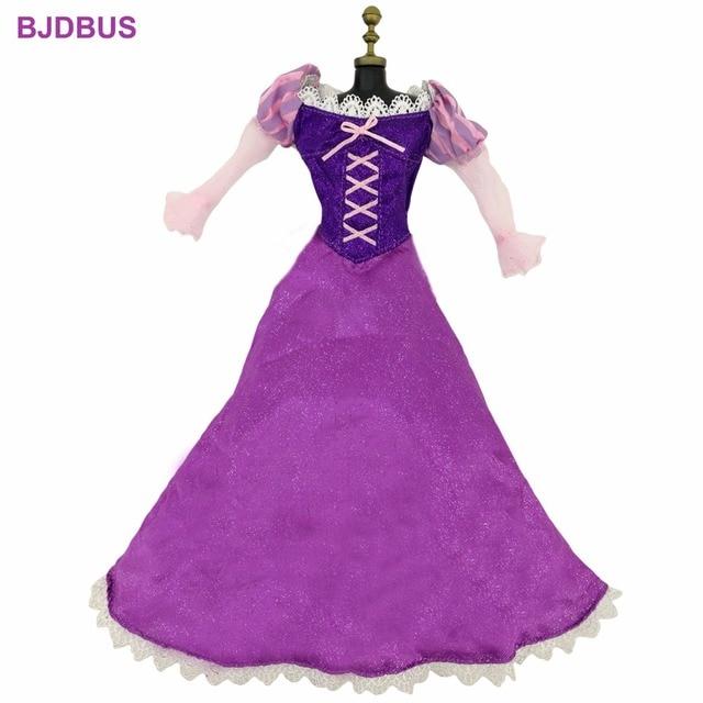 High Quality 1 Pcs Fairy Tale Dress Copy Tangled Princess Purple ...