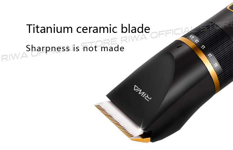 RIWA парикмахер машинка для стрижки волос Профессиональный триммер ЖК-дисплей Быстрая зарядка бритвенный стрижка волос машинка стирающийся цирюльник машинки для стрижки волос RE-6501