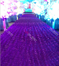 10 Meter Rose Red Long Cheap Floral VIP Wedding props Aisle Carpet Runner For Church wedding stage T station carpet wholesale