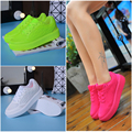 2016 New Fashion Round Toe Creepers Women Ankle Flat Thick Platform Woman Jelly Candy Casual Breath Shoes Slip On Tenis Feminino