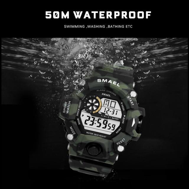 שעון צבאי ספורטיבי לצלילה לגבר