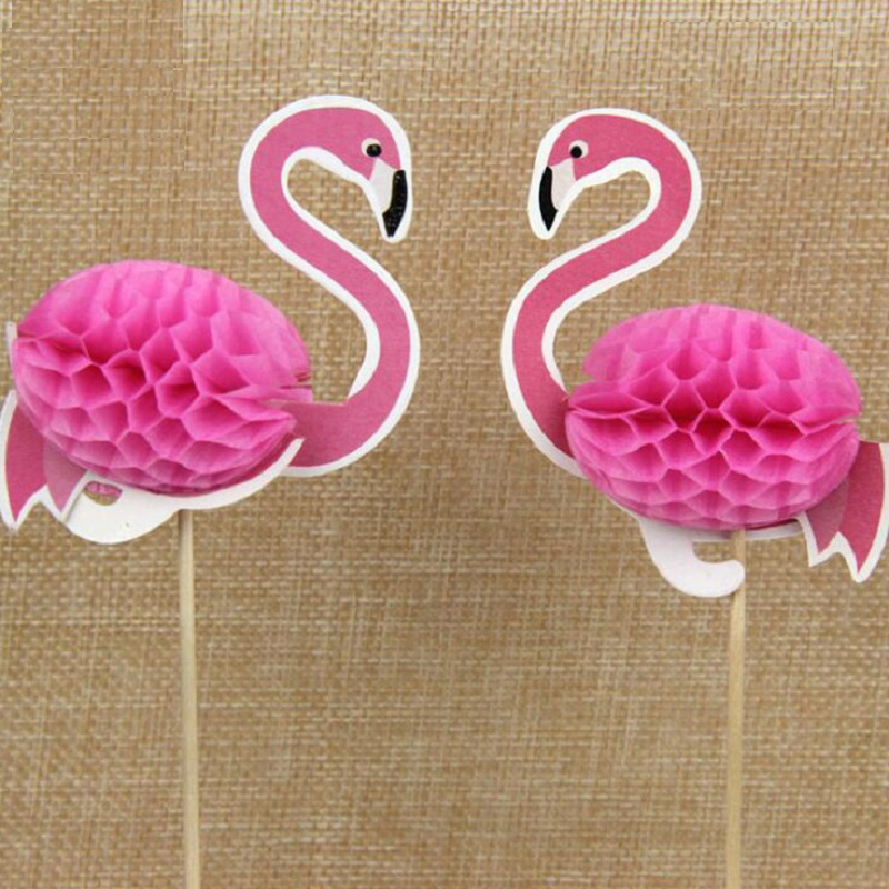 cake toppers roseo bird paper cards banner for fruit Cupcake Wrapper Baking Cup birthday tea party wedding decor baby shower