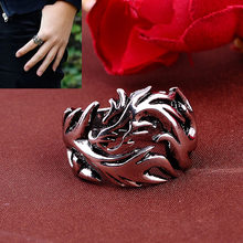Fashion Men Finger Ring Evil Eye Dragon Pattern Punk Goth Stainless Steel Rings Jewelry HSJ88